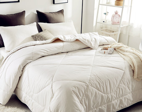 Winter BIO duvet, white or colored, outside cotton, inside wool, 300 gsm