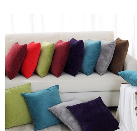Exquisite pillows made of cotton velvetр 45x45cm
