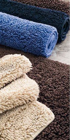 Luxurious Italian made bathmat of cotton for bathrooms and spa centers, 2 sizes, 1-2cm thick