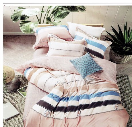 "Double-sided bedding set made of cotton satin 230TC ""Sand and water"""