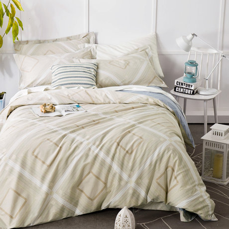 "Double-sided bedding set made of cotton satin 230TC ""Capuchino"""