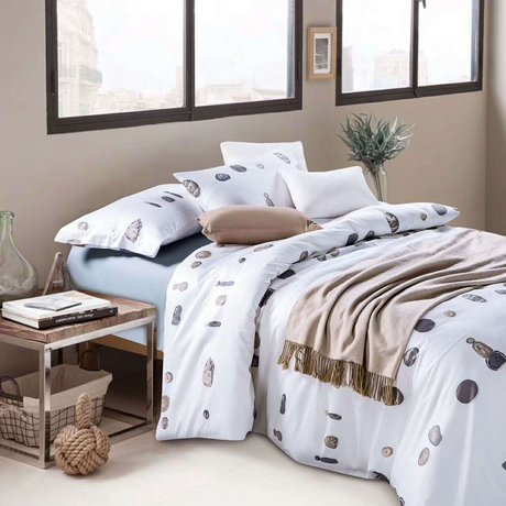 "Bedding set for luxury bedroom, made of 300TC satin cotton fabric ""Eternity"""