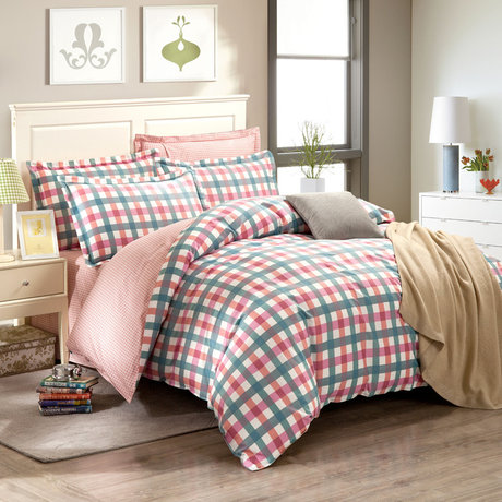 "Cotton satin 200TC double-sided bedroom colourfull set ""Fresh Boxes"""