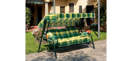 Textile for garden swings - sunshade