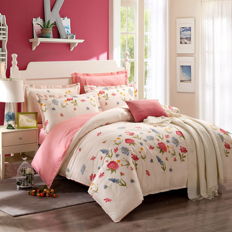 "Cotton satin 200TC double-sided bedding colourfull set ""Radiation"""