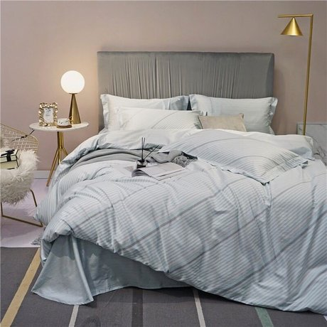 "Bedding set for luxury bedroom, made of 300TC satin cotton fabric ""Airiness"""