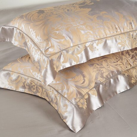 Bed linen - a combination of natural jacquard silk and high grade cotton
