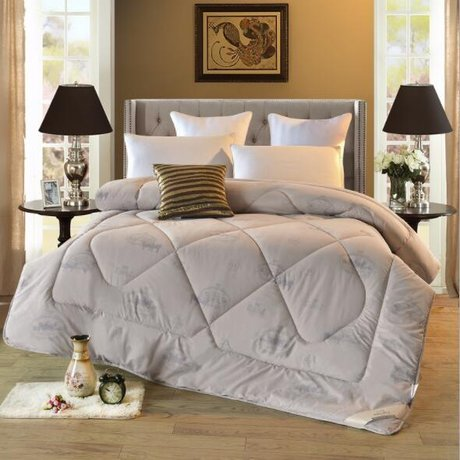 Winter duvet, white or colored, outside cotton, inside wool