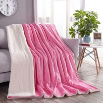 Wool throw blanket, two-sided, fluffy and soft, different colours