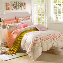 "Cotton satin 200TC double-sided bedding colourfull set ""Sunny"""
