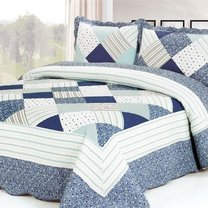 Modern and eco bed cover blanket (with pillow covers), 230х250cm, different designs