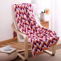 Knitted blanket, sizes 120x180cm, mixed colours